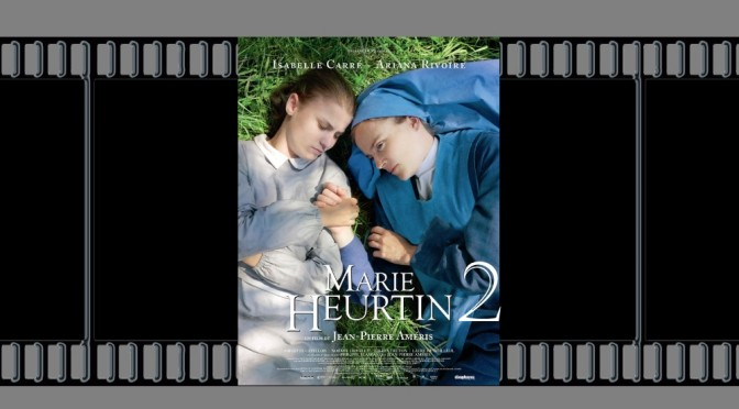 affiche du film Marie Heurtin sur fond de pellicule